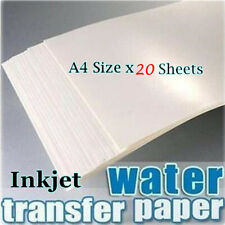Free shipping 20x/lot Blank Water Transfer Printing Film for Inkjet printer,A4