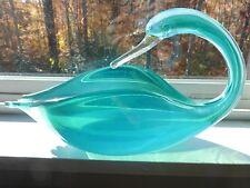 Murano Alfredo Barbini /Archimede Seguso Opalescent Glass Swan Bowl