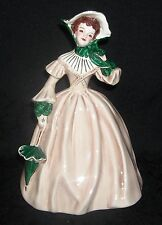 """VTG Florence Ceramics """"Louise"""" Figure, Flawless, Beige/Green, Godey Series"""