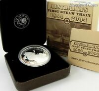 2004 AUSTRALIA'S FIRST STEAM TRAIN 1oz Silver Proof Coin