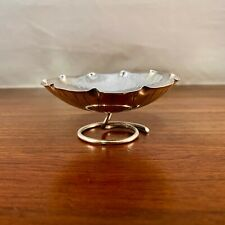 RARE WANG HING CHINESE EXPORT 900 SOLID SILVER FIGURAL LEAF DISH