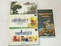 Final Fantasy 4 5 6 OgreBattle Lot4 Nintendo SFC Super Famicom Japan SNES NTSC-J