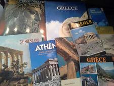 Lot de 8 livres et guides sur La Grèce