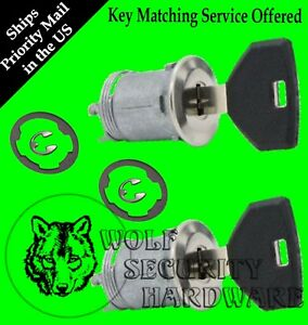 Dodge Chrysler Jeep Plymouth Door Key Lock Cylinder Pair Keyed Alike With 2 Keys