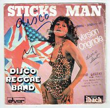 """DISCO REGGAE BAND 45T Disque SP 7"""" STICKS MAN - ROBBER MAN IN DUB - IBACH 60038"""