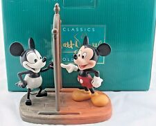 """WDCC """"Mickey Then & Now"""" Mickey Plane Crazy and Mickey Runaway Brain in Box COA"""