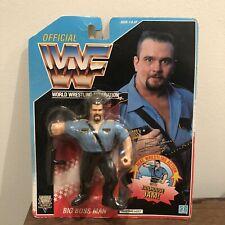 WWF/WWE Big Bossman Vintage Hasbro Action Figure 1992 Series 3 MOC