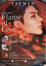 Tae Min: Flame of Love (2017) Taemin Shinee / UNFOLDED PROMO POSTER