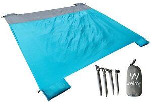 Waterproof Sand Free Proof Beach Blanket Mat Picnic Mat 7x6 Lightweight Compact