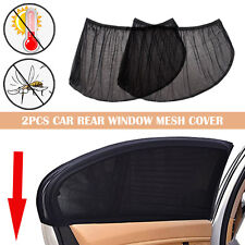 2PCS Anti Insect Mosquito Bug Car Window Net Rear Door Mesh Outdoor Camping SUV