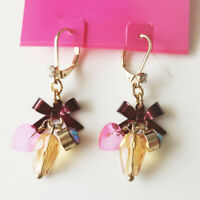 New Betsey Johnson Beads Drop Earrings Gift Fashion Women Party Holiday Jewelry