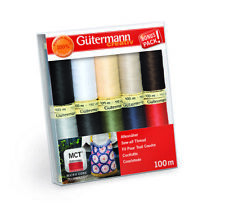 GUTERMANN SEW-ALL THREAD SET 734006 CLASSIC COLOURS - 10 X 100M REELS