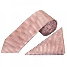 Rose Gold Diamond Neat Classic Men's Tie and Pocket Square Set Regular Tie