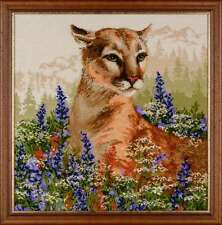 "Counted Cross Stitch Kit RIOLIS - ""Cougar"""