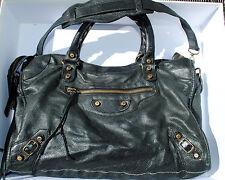 Balenciaga City Bag 2005 Chevre Leather Black Classique Ville box dust bag, more