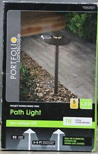 Portfolio 7-Watt Specialty Textured Bronze Low Voltage LED Path Light