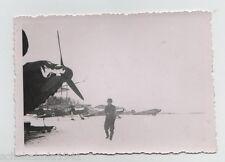 Original Foto Luftwaffen Staffel im Schnee auf Flugplatz 1941