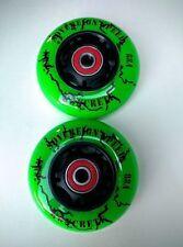 2 68mm OUTDOOR Inline Skate Wheels w Bearings rollerblade roller hockey asphalt