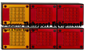 LED Autolamps 2x 460ARRM Stop/Tail & Indicator Lights 12/24 Volt 4WD/Truck/Tray