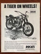 1969 Original Print Ad DUCATI 350cc OHC Street/Sports Scrambler MOTORCYCLE