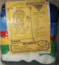 """New listing Rug Crafters """"Patchwork Turtle Kit"""" Wall Hanging 16"""" x 24"""" Nip Vintage"""