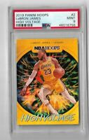 2019 Panini hoops basketball High Voltage #2 Lebron James PSA 9