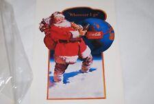 (1) Coke Coca Cola Christmas Santa Claus Post Cards Happy Holidays 1991 World