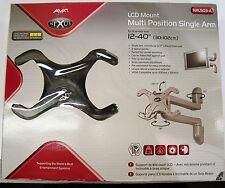 """AVF NXL503-A 12-40"""" Nexus Single Arm, Swivel & Tilt LCD Wall Mount, BLACK"""