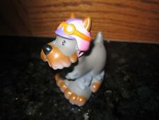 Fisher Price Little People Dog  grey white Pet puppy canine k9 cycle helmet