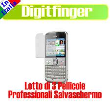 LOTTO 3 PEZZI PELLICOLA SALVASCHERMO LCD PER NOKIA E5