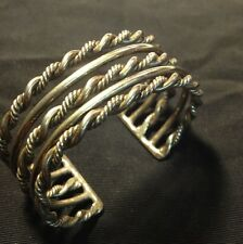 STERLING SILVER MEXICAN CUFF BRACELET