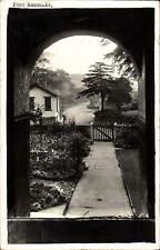 Pott Shrigley. View through Arch by Bullock Bros., Macclesfield.