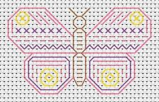 Beginners Blackwork Butterfly Counted Cross Stitch Kit - Fat Cat - 11 Count