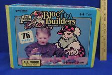 Paul Bunyan Bloc Builders NonToxic Wood Blocks 10 Shapes w/ Postcard & Button
