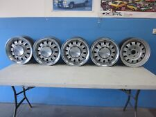 FORD FALCON XW GT 1969 GENUINE 12 SLOT WHEELS WITH CAPS AND WHEEL TRIMS SET OF 5