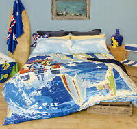 Australia Blue Quilt Cover Set by Retro Home-King size