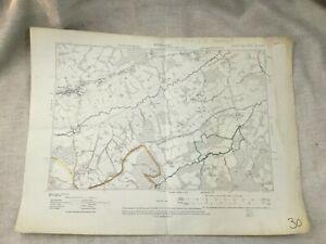 1910 Antique Map of East Sussex Burwash Burghersh Old  Village Original