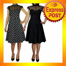 Cocktail Polka Dot Machine Washable Clothing for Women