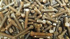 JOB LOT 50 ASSORTED NOS VINTAGE SQUARE HEAD SET SCREWS BOLTS LATHE BSW WHITWORTH