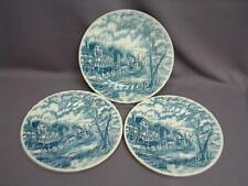 LOT OF (3) CHURCHILL ROYAL WESSEX MAIL BLUE STAGE COACH DINNER PLATES ENGLAND