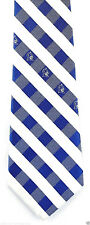 Duke Blue Devils Mens Necktie University College Logo Blue Checks Neck Tie New