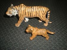 LOT 2 FIGURINES SCHLEICH PAPO 2003 / 2007 - 13 CM - TIGRE ET PETIT TIGRON