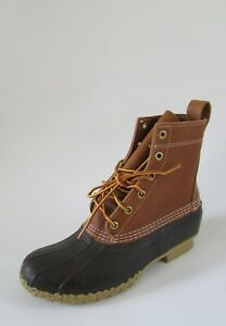 L.L. Bean Women's Classic Rubber Leather Duck Boots Sz 8 Made in Maine EUC