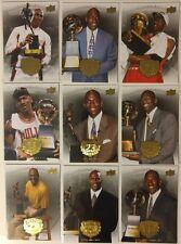 Rare Lot of 9: MICHAEL JORDAN, 2009/10 UPPER DECK Gold Legacy, CHAMP MVP Trophy