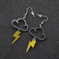1 Pair Lightning Pendant Earrings Fashion Ear Decor Acrylic Cloud Ear Hook