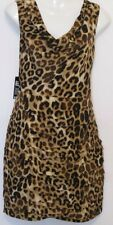 EXPRESS Leopard Print  V-Back Pleated Fold Sleeveless Dress Sz 10 and 6