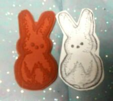 Funny offbeat candy bunny rubber stamp humorous Easter stamps unmounted odd