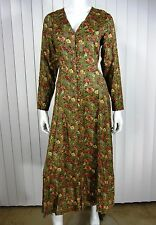 PASSPORTS Of PIER 1 IMPORTS 100% RAYON LONG SLEEVE DRESS SIZE S, BROWN