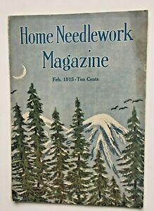 Home Needlework Magazine February 1915 Patterns Crochet Ads Illustrations