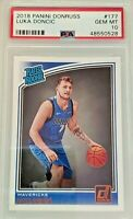 2018-19 Donruss Rated Rookie Luka Doncic #177 PSA 10 RC ROOKIE CARD